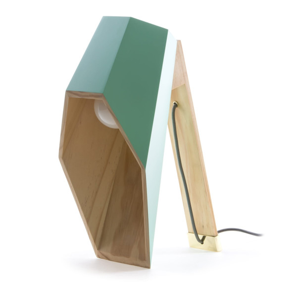 Woodspot Green Lamp