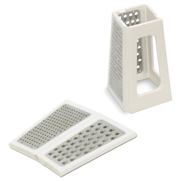 Joseph Joseph Fold Flat Space Saving Kitchen Grater, White