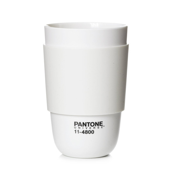 Pantone Universe Classic Cup with Silicone Band, Blanc de Blanc
