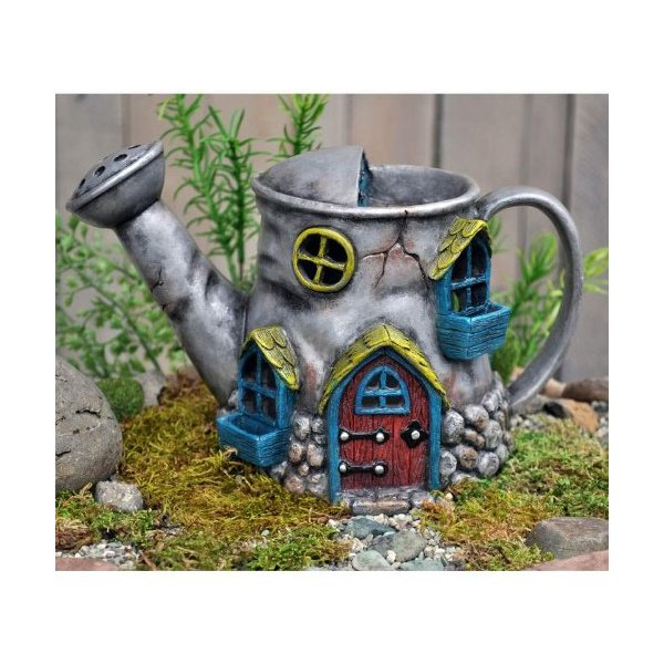Fiddlehead Fairy Village - Old Watering Can Home