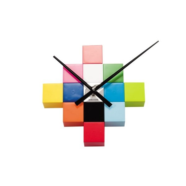 Karlsson Do-It-Yourself Cubic Wall Clock, Multicolor
