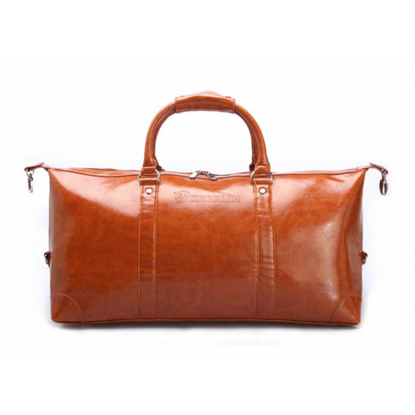 Good&god Pu Leather Weekend Bag, Brown