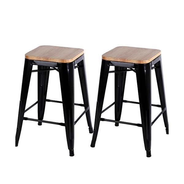 Homdox Adjustable Swivel Barstools Hydraulic Chair, Set of 2