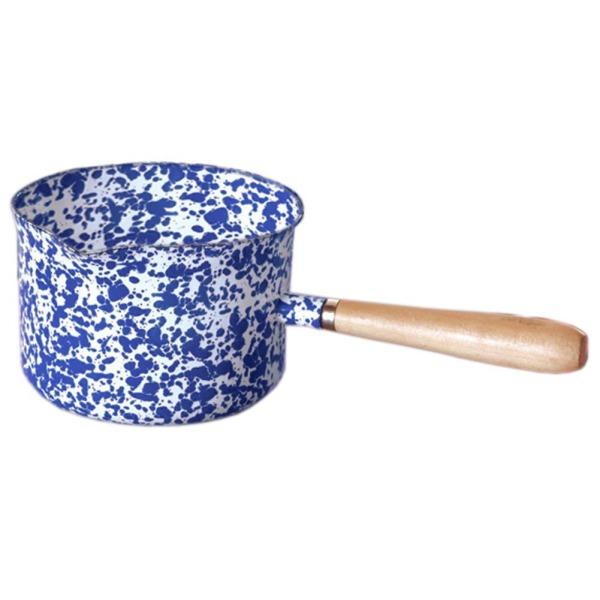 Enamelware Sauce Pan /Gravy Server - Blue Marble