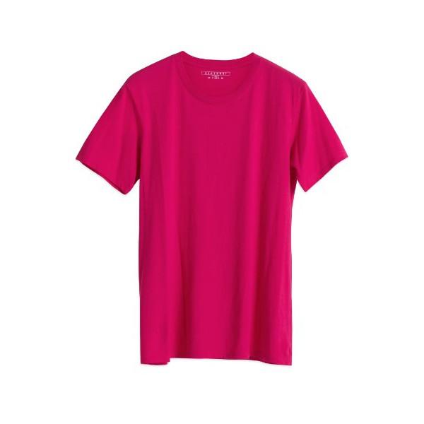 Neutroni Men's Voysey 100% Cotton Short Sleeve T-Shirt, Bright Rose, Medium