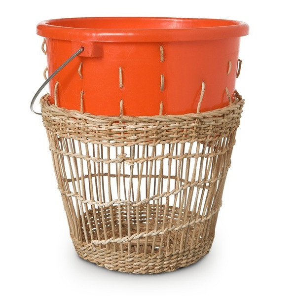 Areaware Bow Bin Rectangle Weave Wastebasket