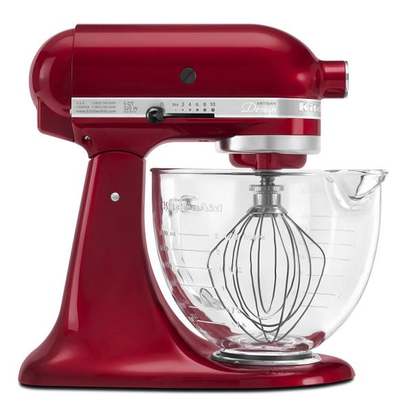 KitchenAid 5-Qt. Artisan Design Series with Glass Bowl, Grenadine Red