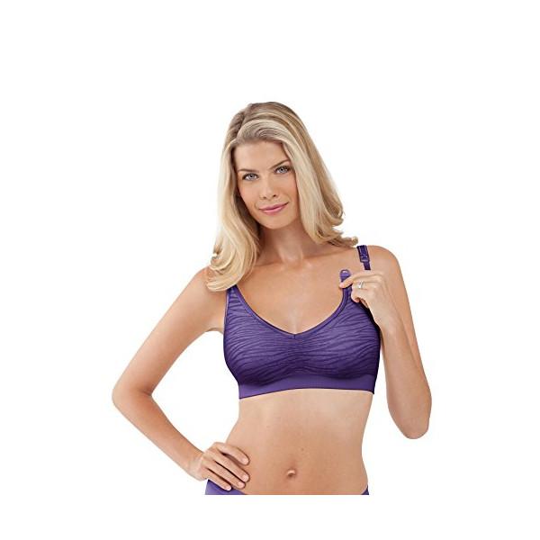 Bravado Designs Body Silk Jacquard Nursing Bra - Jungle Purple-Small
