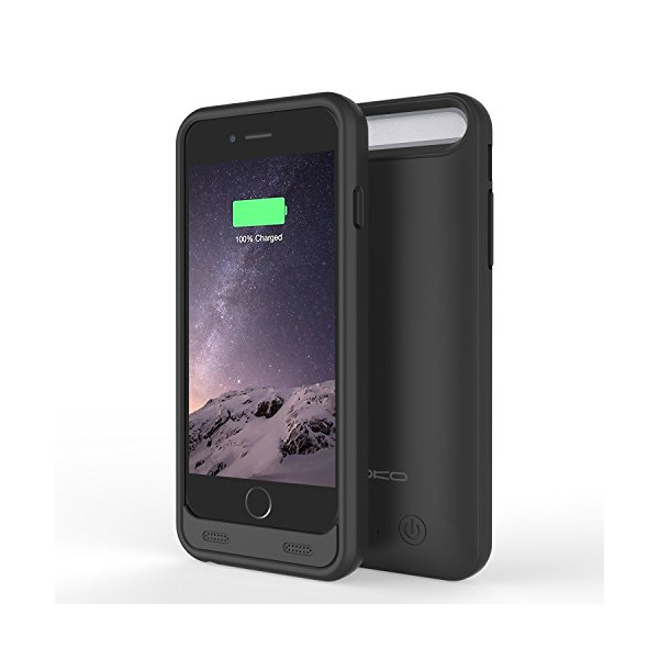 MoKo iPhone 6 Battery Charger Case - 3100mAh Protective Extended iPhone 6 Battery Charging Case with Removable / Rechargeable Power Cover for iPhone 6 4.7 Inch, Fit with Any Version of Apple iPhone 6 (a.k.a iPhone 6 Battery Pack / iPhone 6 Power Case / iP