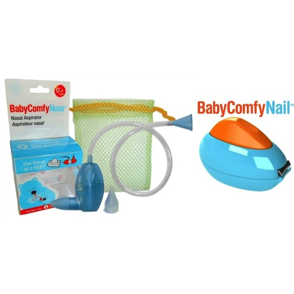 Baby Comfy Care Safety Bundle with Baby Comfy Nasal Aspirator and Baby Comfy Nail Deluxe Safety Clipper