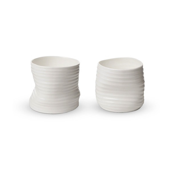 Quake Mug (Set of 2) by Gustaf Nordenskiold Color: White