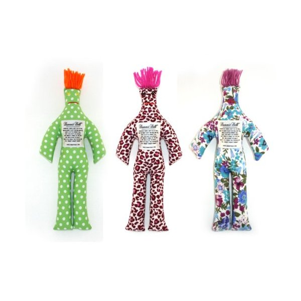 Dammit Doll - Ménage à Trois - Set of Three random Dammit Dolls - Stress Relief - Gag Gift