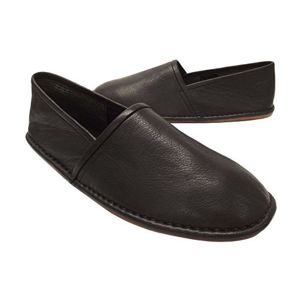 L.B. Evans Men's Lars Slipper,Black Leather,10 M US