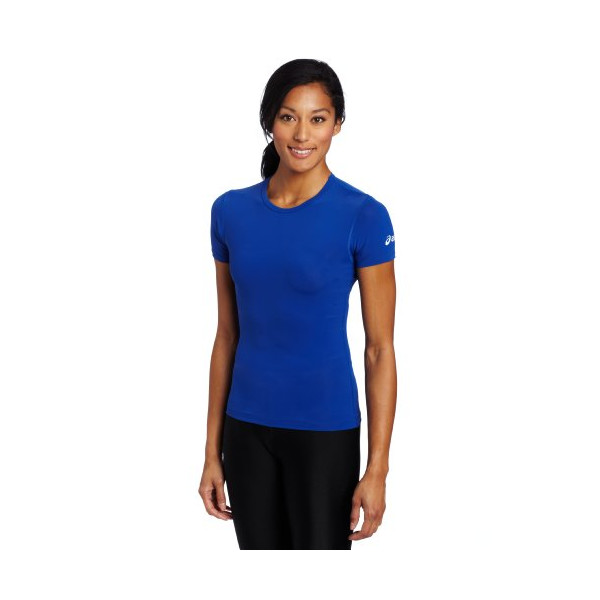 Asics Women's Compression Short Sleeve Shirt (Royal, X-Small)