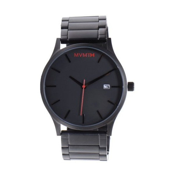 MVMT Watches Black Face with Black Stainless Steel Bracelet
