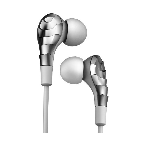 iHip IP-ELITE-EP-CHR Earphones with Microphone, Chrome