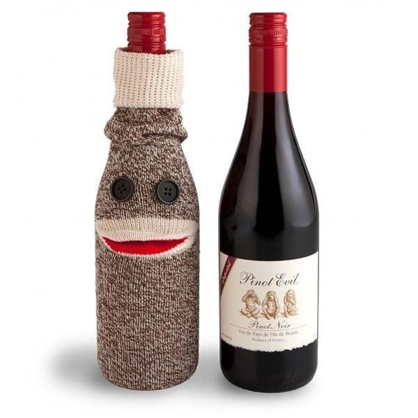 Sock Puppet Wine Bottle Wrapper