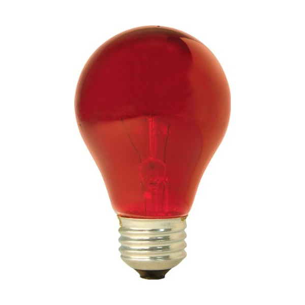 GE Lighting 16555 25-Watt Light Bulb, Red