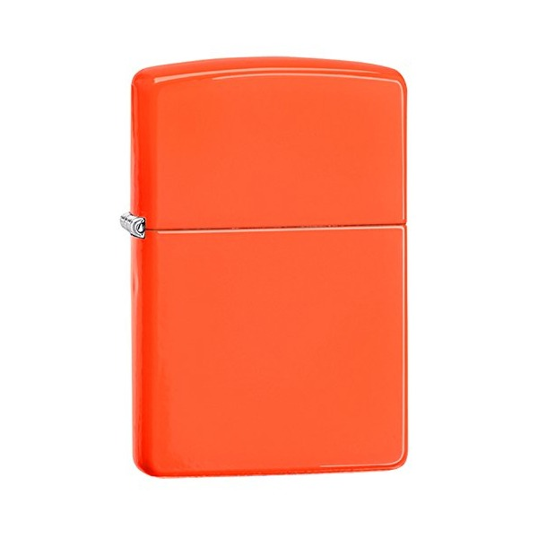 Zippo Pocket Lighter, Neon Orange