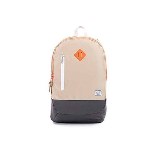 Herschel Supply Co. Village, Khaki/Charcoal/Neon Orange Rubber, One Size