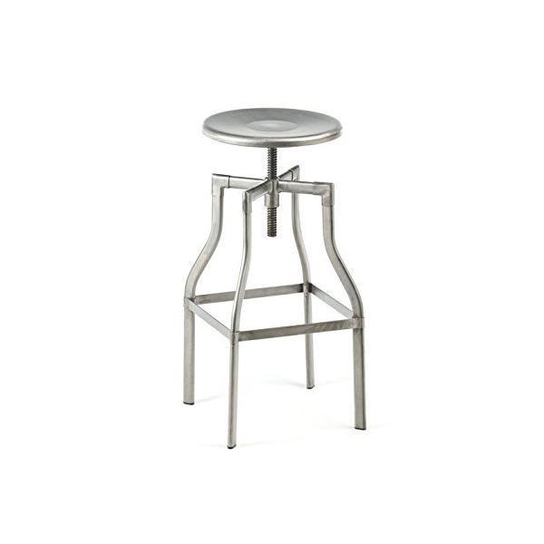 "Design Lab MN Machinist 26"" Industrial Steel Bar Stool with Adjustable Seat Height"