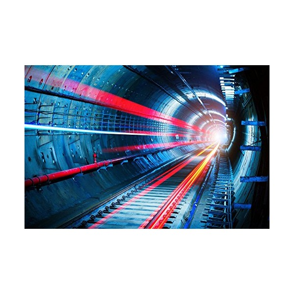 Wallmonkeys WM169299 Subway Tunnel Peel and Stick Wall Decals (18 in W x 12 in H)