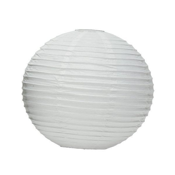 "Weddingstar Round Paper Lantern, 16"", White"