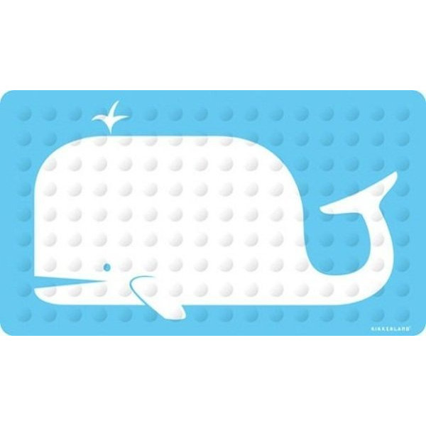 Kikkerland Whale Natural Rubber High Grip Suction Cup Bath Mat