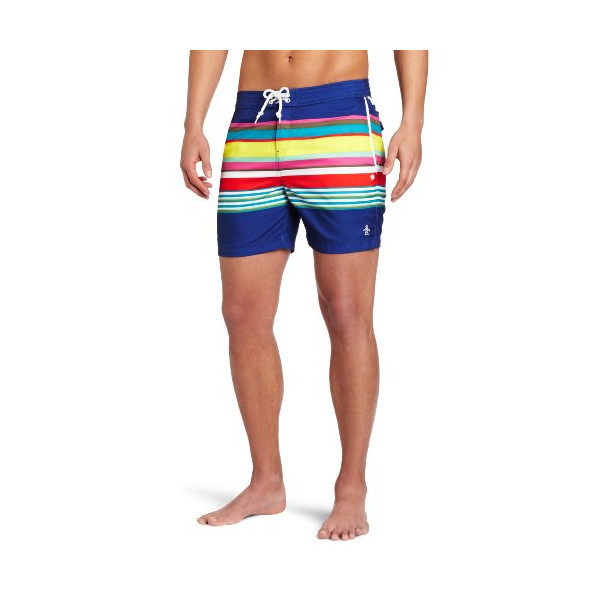 Original Penguin Men's Fix Volley Multi Swim Shorts