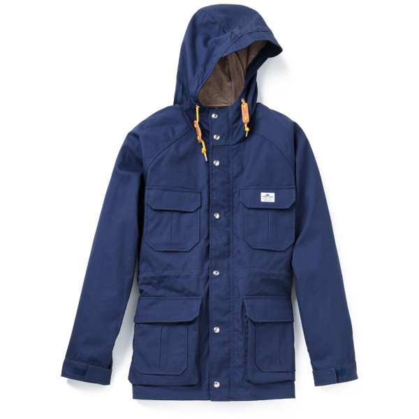 Penfield Men's Kasson Mountain Parka, Navy/Tan
