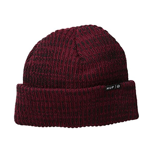 Huf Usual Variations On A Beanie Hat Burgundy One Size