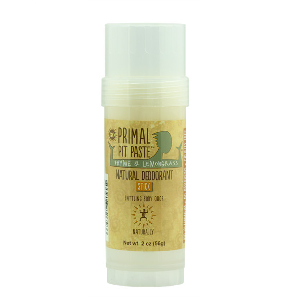 Primal Pit Paste Stick Natural Deodorant Thyme and Lemongrass 2 Ounces
