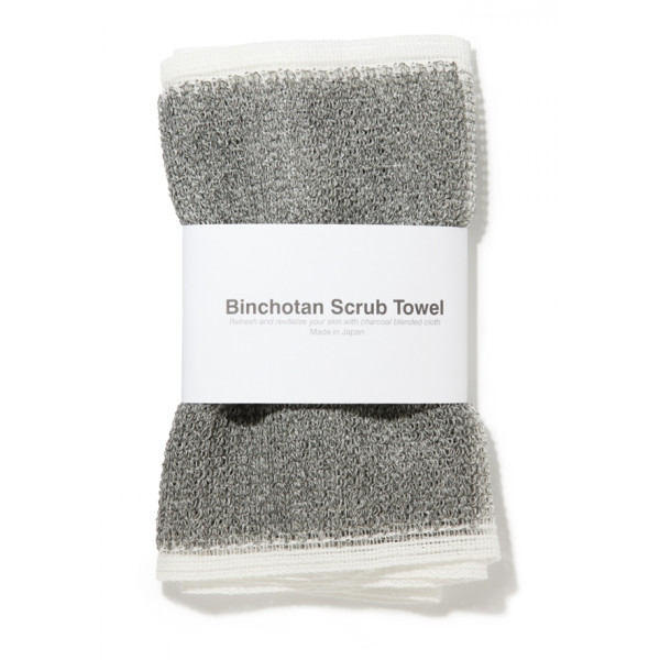Binchotan Charcoal Body Scrub Towel by Morihata