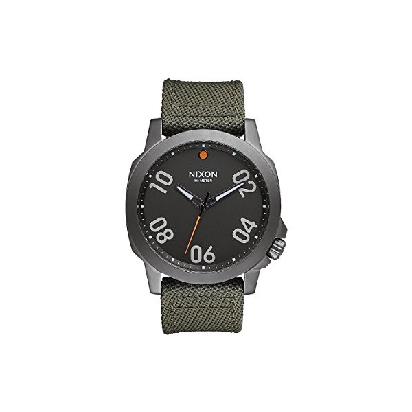 Nixon A5142072 Ranger 45 Nylon Gunmetal / Surplus Men's Watch