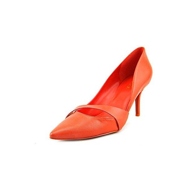 Nine West Women's Kimery Dress Pump,Orange Leather,5.5 M US
