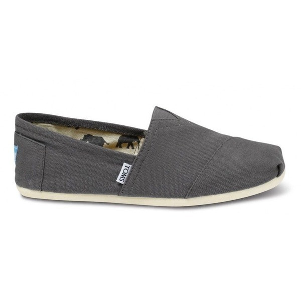 TOMS Men's Classic Canvas Slip-On, Ash Grey