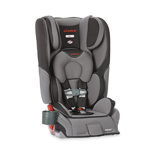 Diono Rainier Convertible Plus Booster with Adjustable Head Support, Graphite
