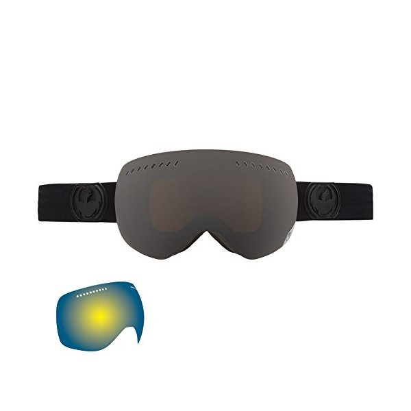 Dragon Alliance Advanced Project XS Ski Goggles, Knight Rider/Dark Smoke + Rose + Yellow Blue Ion
