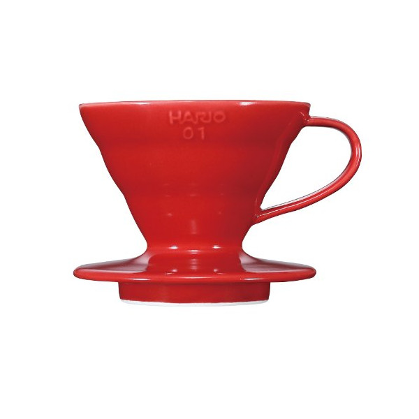 Hario V60 01 Ceramic Coffee Dripper, Red