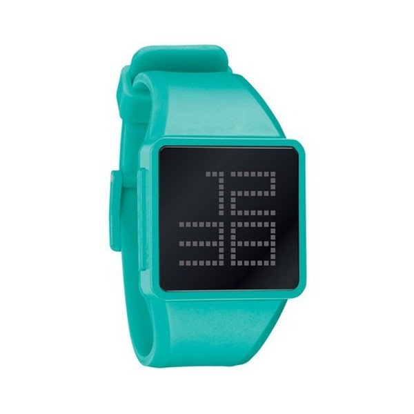 Nixon Newton Digital Watch - Men's Black/Teal, One Size