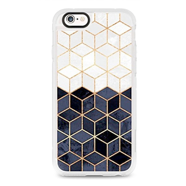 quality design f85ee 1e2cb Canopy.co: Casetify White and Navy Cubes Phone Case With ...