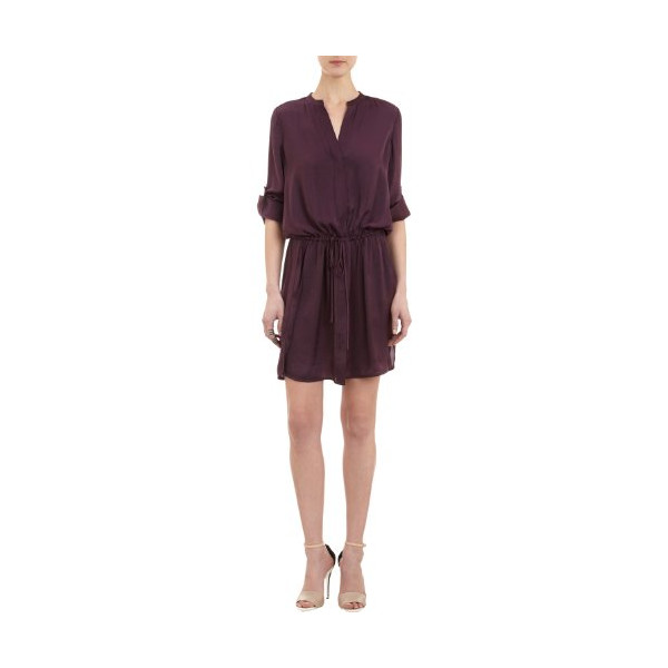 Vince Popover Tunic Dress in Grape (M)