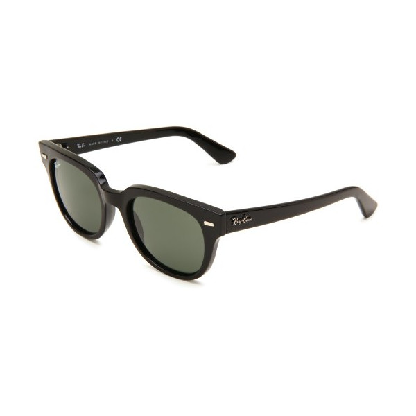 Ray-Ban Meteor Wayfarer Sunglasses, Shiny Black