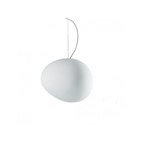 Gregg Media Suspension White Color Aluminum Finish 12in Halogen by Foscarini - SKU 168007S2 10UL