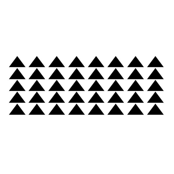Set of 60 Black Triangle Wall Decals