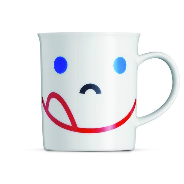 Mono Smile Porcelain Mug 8 Oz