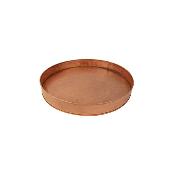 Craft Outlet Copper Round Tray, 12 x 12 x 1.5""