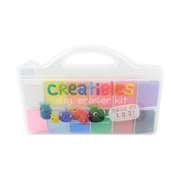 International Arrivals Creatibles DIY Erasers, Set of 12 (161-001)