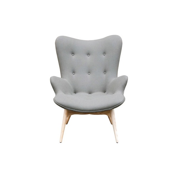 AEON Furniture Jules Lounge Chair, Warm Gray and Natural Ash