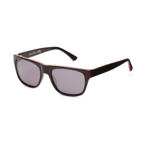 Raen Volta Wayfarer Sunglasses,Black/Red,55 mm